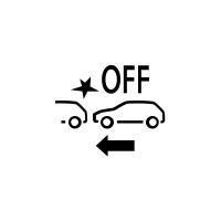 (Consoante o veículo) Indicador de avaria ou indisponibilidade da travagem de emergência ativa